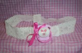 ADULT SISSY BABY STRAP ON TIME OUT PACIFIER PINK DISNEY