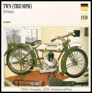 Motorcycle Card 1920 TWN Triumph 250 Knirps belt drive