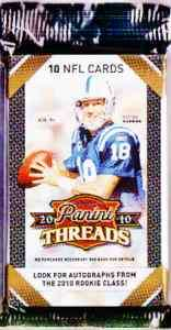 2010 PANINI THREADS NFL JERSEY OR AUTO HOT PACK GUAR. |