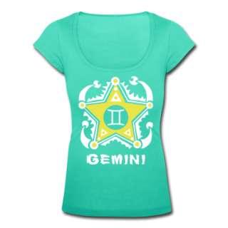 Teal Gemini Twins Zodiac Sign   Unique astrology designs   Your