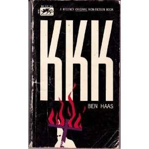 KKK by Ben Haas: Ben Haas: Books