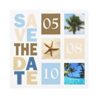 Tropical Wedding Destination Save The Dates by TDSwhite
