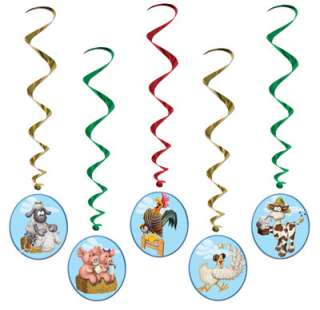 Farm Animal Whirls   1.02m   Pack of 5