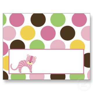 Writable Place Card Jungle Queen Tiger Safari Zoo Post Card from