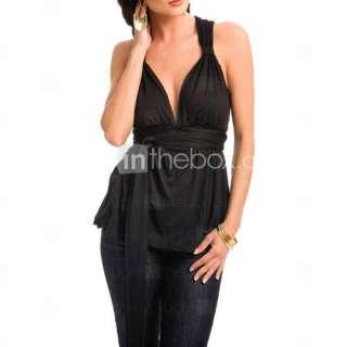 Cruz escote camisola sexy back modal las camisas Jersey (4201bc1002