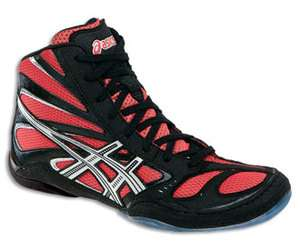 Asics Split Second 8 Black/Red/Silver Mens Wrestling Shoes