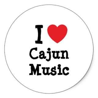 love Cajun Music heart custom personalized Stickers from Zazzle