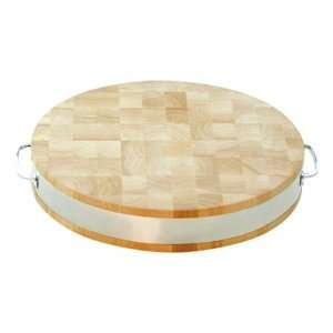 Round Cutting Board (Natural Wood) (2.5 H x 15 W