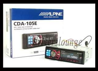 Alpine CDA 105E CD  WMA USB iPod iPhone IMPRINT Ready Car Headunit