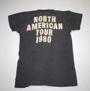 VINTAGE ALICE COOPER NORTH AMERICAN TOUR T  SHIRT 1980 M ORIGINAL
