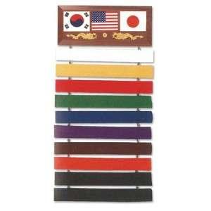 Flag Taekwondo Karate Kung Fu Martial Arts Black Belt Display
