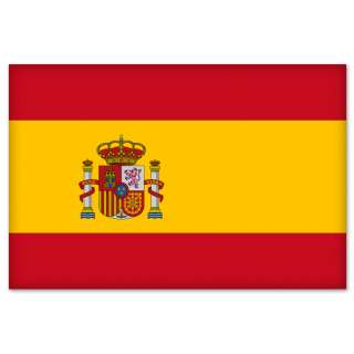 Spanish Flag Spain car bumper sticker decal 5 x 3