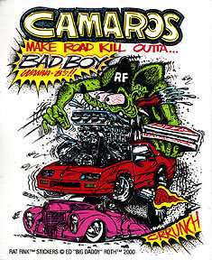 Camaros Rat Fink Sticker Decal Big Daddy Roth RF3