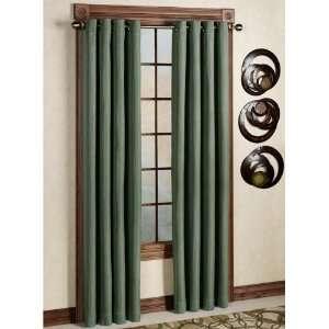 Canvas Blackout Grommet Curtain Panel