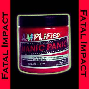 New Punk Manic Panic Amplified Wildfire Red Hair Dye
