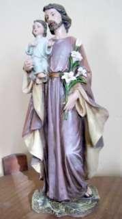 St Joseph and Child Jesus Religious Figurine Catholic Statue