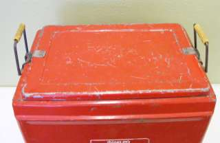 Vintage Red Drink Coca Cola Cooler Ice Chest 1960s