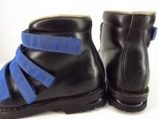 black royal blue 3 pin Merrell 7 M cross country ski leather