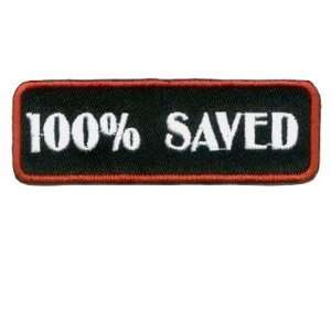 Saved Red Embroidered Cool Christian Biker Patch!!: Everything Else