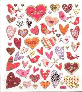scrapbooking de pájaro de corazón de amor con pedrería plateada