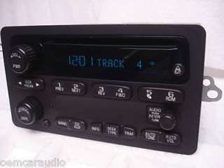 Silverado Suburban Tahoe AVALANCHE TRAILBLAZER Radio CD Player