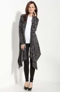 autumn cashmere Animal Print Drape Front Cashmere Cardigan