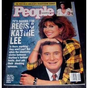 Regis Philbin And Kathy Lee Gifford Autographed People