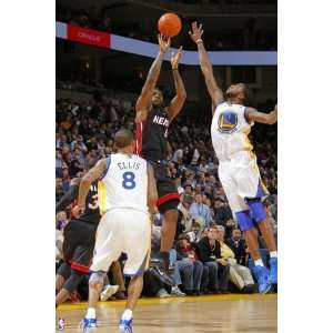 Miami Heat v Golden State Warriors Lebron James and Dorell Wright by