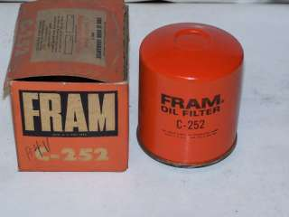 This item is an NOS Fram Oil Filter, part #C 252. This Brand New part