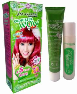 Hair COLOR Permanen Hair Cream Dye Cosplay Goh PINK |
