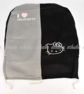 Hello Kitty Auto Car Seat Covers 10pc Black Grey EIGKEO