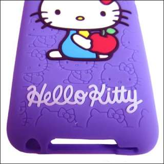 Purple Hello Kitty Soft Silicone Case Cover Skin For iPod Touch 4 4G
