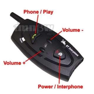 BT Bluetooth Interphone 2 Way motorcycle Helmet Intercom 500M Range