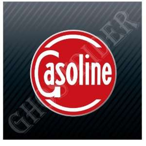 Gasoline Sign Gas Station Fuel Pump Vintage Sticker Decal