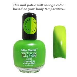 Mood Nail Lacquer Color Changing Nail Polish Green to Yellow Beauty