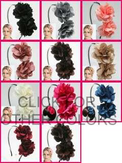 FLOWER HEADBAND HAIR BAND ACCESSORY FASCINATOR CORSAGE