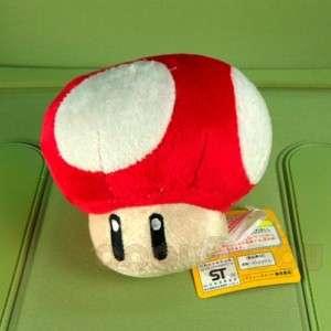New Super Mario Bros Red Mushroom Plush Doll Figure Toy