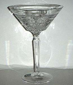 Varga Art Crystal Imperial Martini Glass