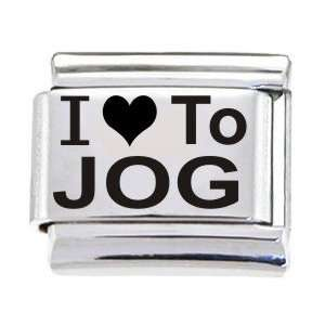 Body Candy Italian Charms Laser I Love To Jog: Jewelry