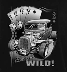 GearHead Duecs Wild Old Hot Rod Rat Rod car T shirt