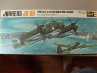 Vintage Revell 1/72 Scale Junkers JU 88 Model Kit H 113
