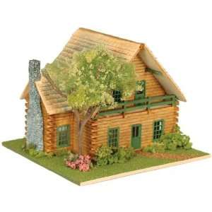 Miniature 1/144 Scale Log Cabin Lodge Dollhouse Kit Toys & Games