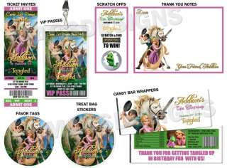 Tangled Rapunzel Birthday Party Invitations & Favors