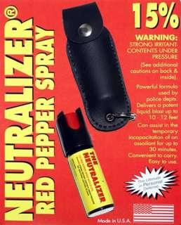 Neutralizer Red Pepper Spray w/ Leather Case Police 15%