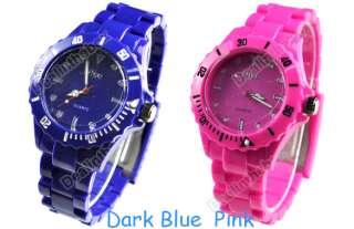 Summer Plastic Wrist Watch Men Lady Women Style Wristwatch 6 colors