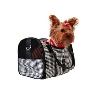 Dog Cat Houndstooth Pet Carrier Travel Bag