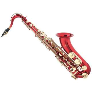 Cecilio 2Series Bb Tenor Saxophone Sax Gold Silver Red
