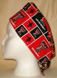 SCRUB HAT CAP MADE W TEXAS TECH UNIVERSITY FABRIC NEW