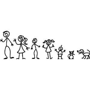 Stick Family People Vinyl Wall Decal