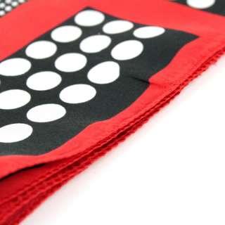 New Fashion Strip and Spot Prints Square Scarf Twill Shawl Wrap free